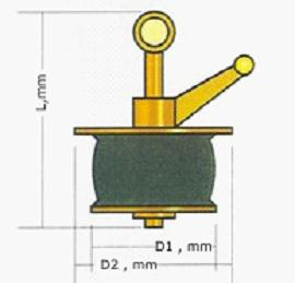 chart of scupper plug brass